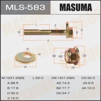 MASUMA MLS-583 - Болт регулировки развала колёс car-mod.com