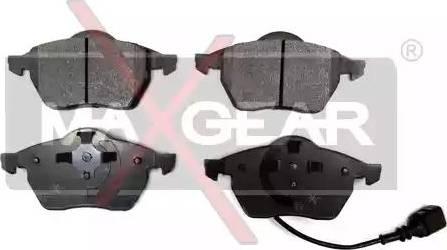 Maxgear 19-0661 - Тормозные колодки, дисковые car-mod.com