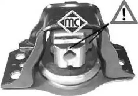 Metalcaucho 04638 - Подушка, подвеска двигателя car-mod.com