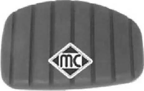 Metalcaucho 04717 - Педальные накладка, педаль тормоз autodnr.net