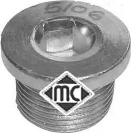 Metalcaucho 05106 - Резьбовая пробка, масляный поддон autodnr.net