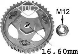 Metalcaucho 05623 - Шестерня, паливний насос високого тиску autocars.com.ua