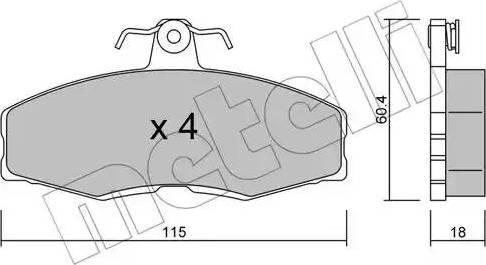 Metelli 22-0039-0 - Комплект тормозных колодок, дисковый тормоз autodnr.net