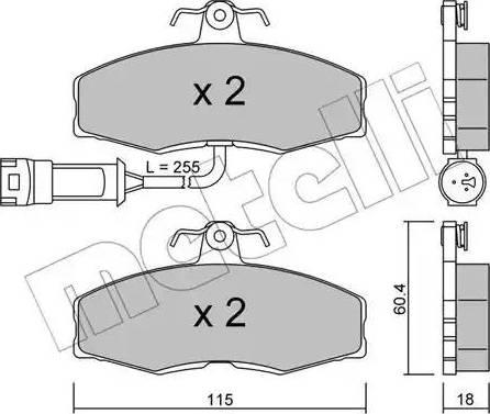 Metelli 22-0039-1 - Комплект тормозных колодок, дисковый тормоз autodnr.net