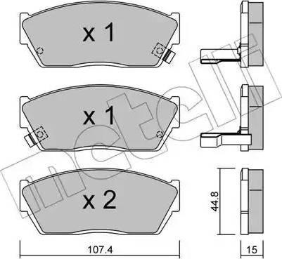 Metelli 22-0054-2 - Комплект тормозных колодок, дисковый тормоз autodnr.net