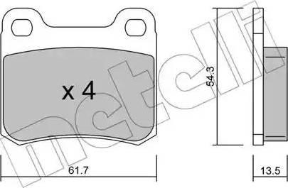 Metelli 22-0092-0 - Комплект тормозных колодок, дисковый тормоз autodnr.net