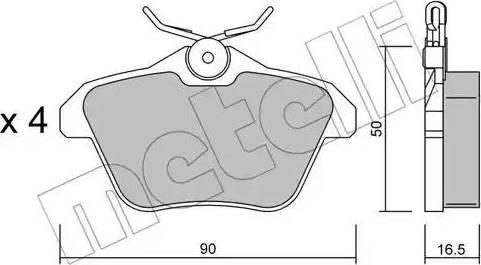 Metelli 22-0113-0 - Комплект тормозных колодок, дисковый тормоз autodnr.net