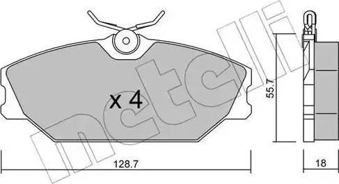 Metelli 22-0142-2 - Тормозные колодки, дисковые car-mod.com