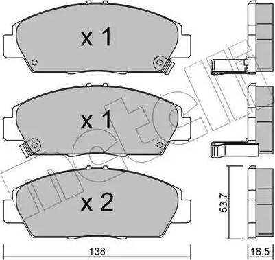 Metelli 22-0172-0 - Тормозные колодки, дисковые car-mod.com