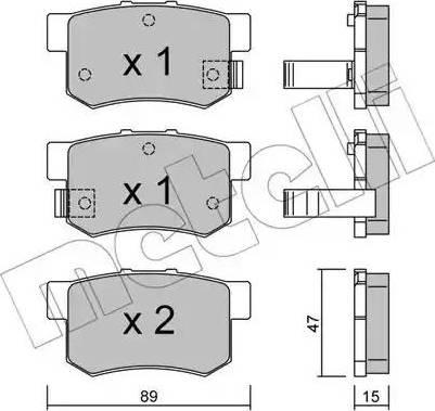 Metelli 22-0173-0 - Тормозные колодки, дисковые car-mod.com