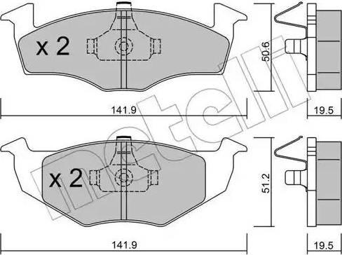 Metelli 22-0206-1 - Комплект тормозных колодок, дисковый тормоз autodnr.net