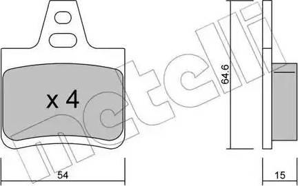 Metelli 22-0285-0 - Комплект тормозных колодок, дисковый тормоз autodnr.net