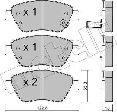 Metelli 22-0321-2 - Тормозные колодки, дисковые car-mod.com