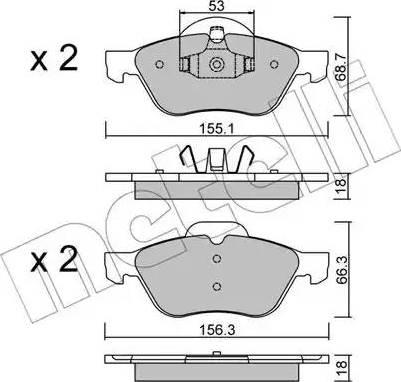 Metelli 22-0335-0 - Тормозные колодки, дисковые car-mod.com