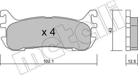 Metelli 22-0393-0 - Комплект тормозных колодок, дисковый тормоз autodnr.net