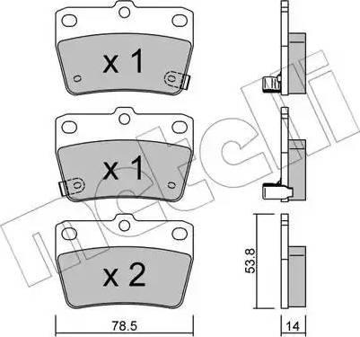 Metelli 22-0431-0 - Комплект тормозных колодок, дисковый тормоз autodnr.net