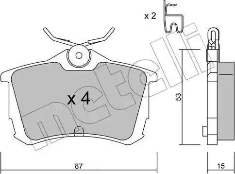 Metelli 22-0465-0 - Тормозные колодки, дисковые car-mod.com