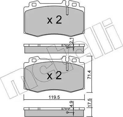 Metelli 22-0563-5 - Тормозные колодки, дисковые car-mod.com