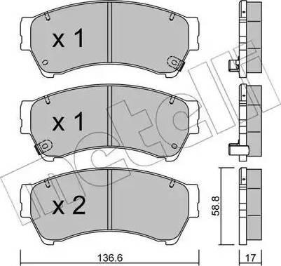 Metelli 22-0924-0 - Комплект тормозных колодок, дисковый тормоз autodnr.net