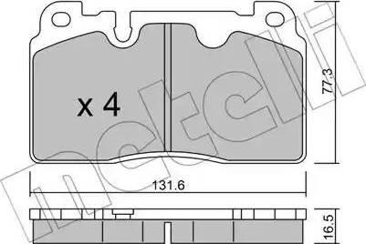Metelli 22-0979-0 - Комплект тормозных колодок, дисковый тормоз autodnr.net