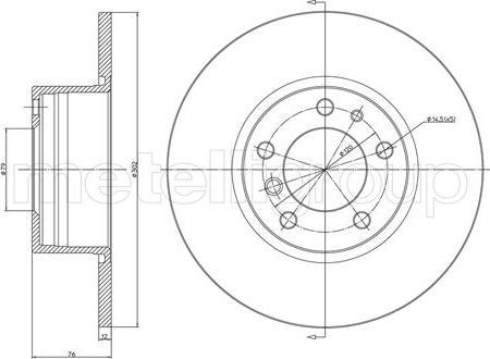 Metelli 23-0187 - Тормозной диск autodnr.net