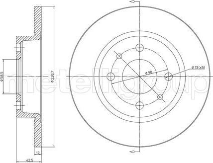 Metelli 23-0205 - Тормозной диск autodnr.net