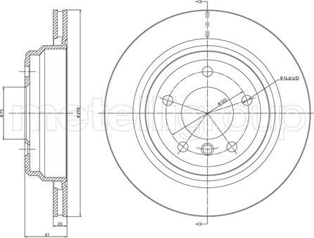Metelli 23-0398C - Тормозной диск autodnr.net