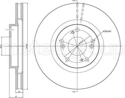 Metelli 23-0576C - Тормозной диск autodnr.net