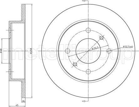 Metelli 23-0633 - Тормозной диск autodnr.net