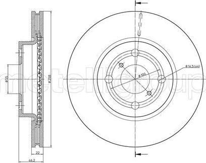 Metelli 23-0879C - Тормозной диск autodnr.net