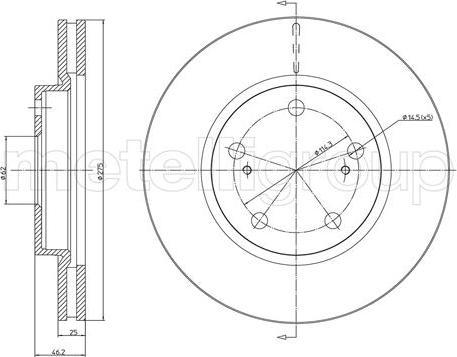 Metelli 23-1055C - Тормозной диск autodnr.net
