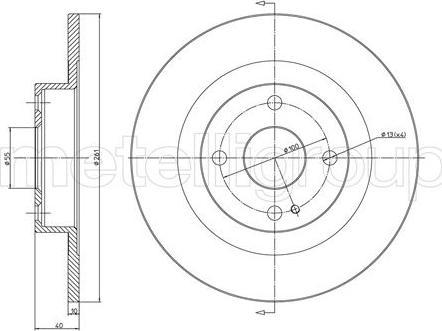 Metelli 23-1112 - Тормозной диск autodnr.net
