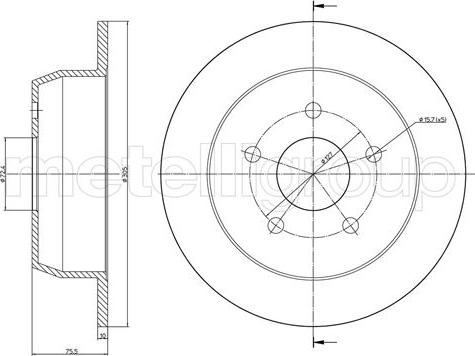 Metelli 23-1116C - Тормозной диск autodnr.net