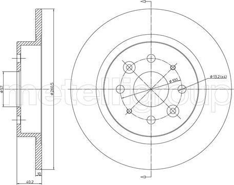 Metelli 23-1119C - Тормозной диск autodnr.net