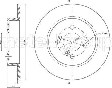 Metelli 23-1256C - Тормозной диск autodnr.net
