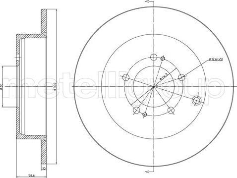 Metelli 23-1332C - Тормозной диск autodnr.net