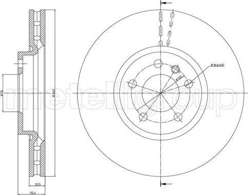 Metelli 23-1470C - Тормозной диск autodnr.net