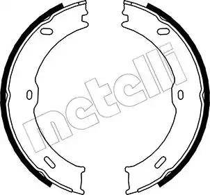 Metelli 53-0246 - Комплект тормозных колодок, стояночная тормозная система autodnr.net