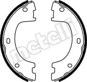 Metelli 53-0249 - Комплект тормозных колодок, стояночная тормозная система autodnr.net