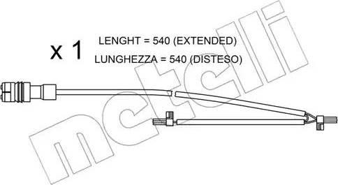 Metelli SU.262 - Сигнализатор, износ тормозных колодок autodnr.net