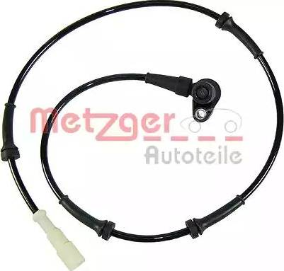 Metzger 0900478 - Датчик ABS, частота вращения колеса autodnr.net
