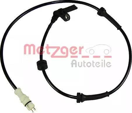 Metzger 0900482 - Датчик ABS, частота вращения колеса autodnr.net