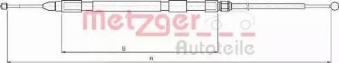 Metzger 10.4158 - Трос, стояночная тормозная система avtokuzovplus.com.ua