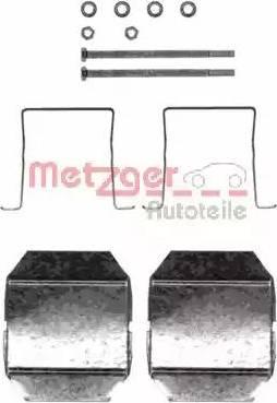 Metzger 109-1237 - Комплектующие, колодки дискового тормоза autodnr.net