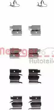 Metzger 109-1240 - Комплектующие, колодки дискового тормоза avtokuzovplus.com.ua