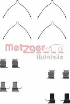 Metzger 109-1261 - Комплектующие, колодки дискового тормоза autodnr.net