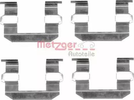 Metzger 109-1645 - Комплектующие, колодки дискового тормоза autodnr.net