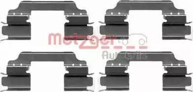 Metzger 109-1649 - Комплектующие, колодки дискового тормоза avtokuzovplus.com.ua