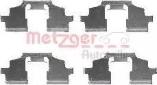 Metzger 109-1675 - Комплектующие, колодки дискового тормоза autodnr.net