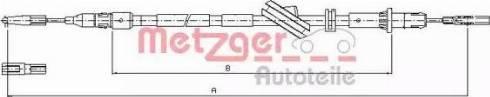 Metzger 10.9444 - Трос, стояночная тормозная система avtokuzovplus.com.ua